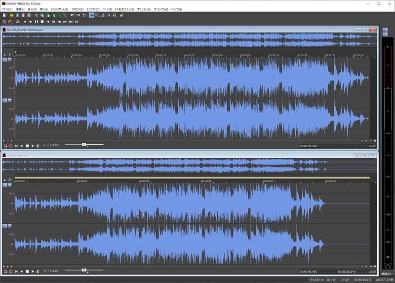 Sound Forgeでキャプチャした音と比較できるようにした