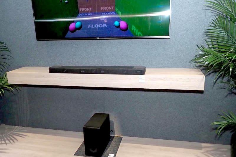 360 Reality Audio対応のサウンドバー参考展示機