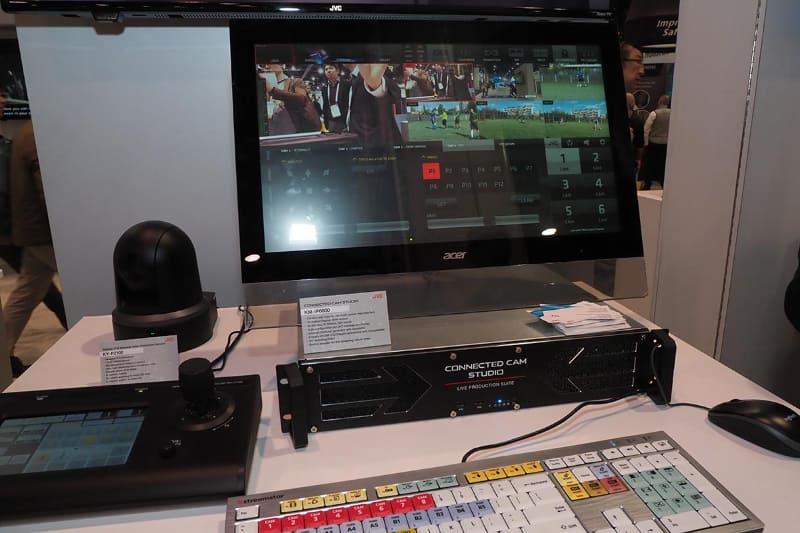 映像制作関連では、カメラを遠隔コントロールできる「CONNECTED CAM STUDIO」や、米DVSportが提供するスポーツのコーチングシステム/リプレイシステムなど、スポーツ分野をサポートするソリューションを提案