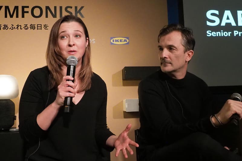 Sonos Senior Product Managerのサラ・モリス氏(左)、IKEA of Sweden,IKEA Home Smart,Product Design Developer ステーパン・ベーギチ氏(右)