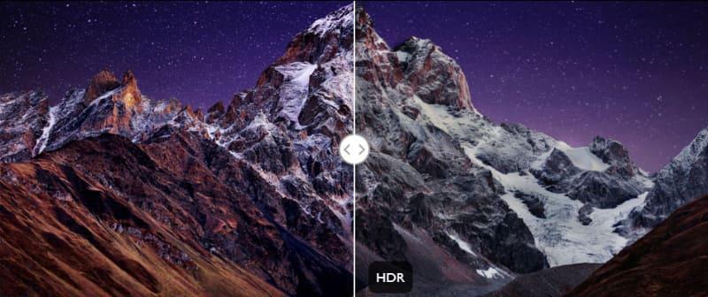 HDR10とHLG規格をサポート