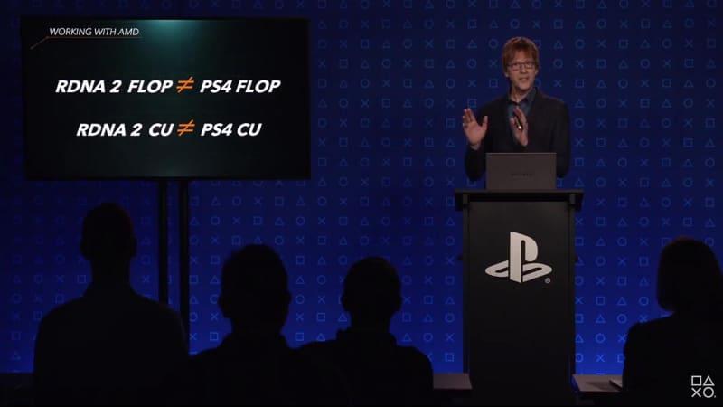 サーニー氏は「コア数は同じでも世代が大きく違い、PS4とPS5のSoCは性能が異なる」と解説