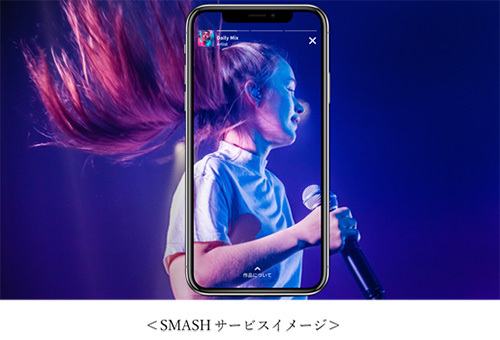 縦型動画配信サービス「smash.」