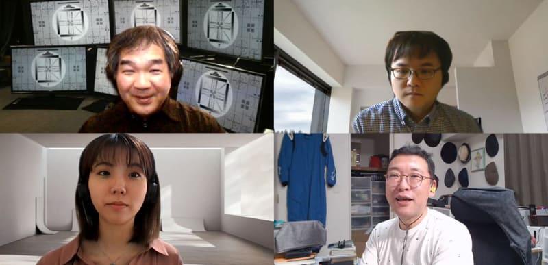 写真左上から時計回りに、井川直樹氏、萩尾淳二氏、筆者、馬場彩香氏