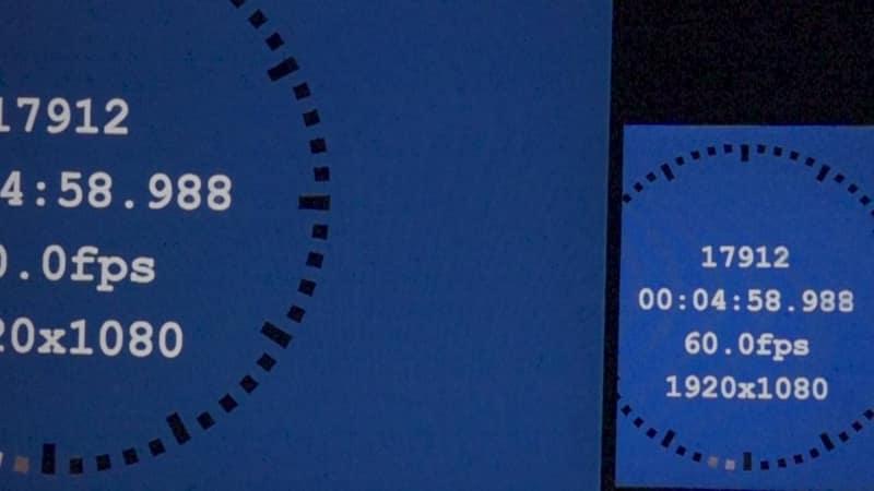 1画面表示モード/画調モード「FPS」