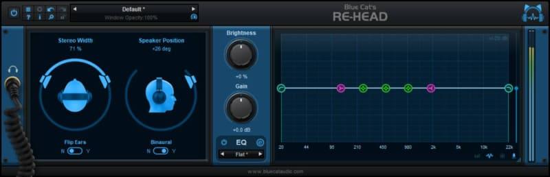 EQボタンを押すと、右側にEQ画面が表示
