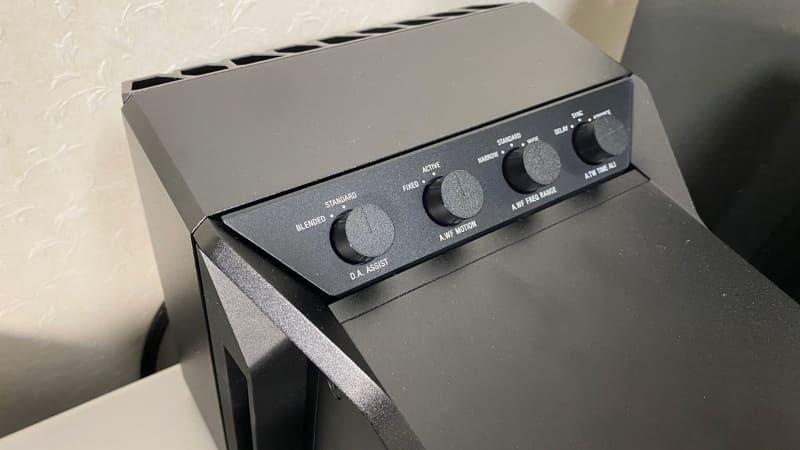 音の質感・味付けを微調整できる4つのスイッチ。