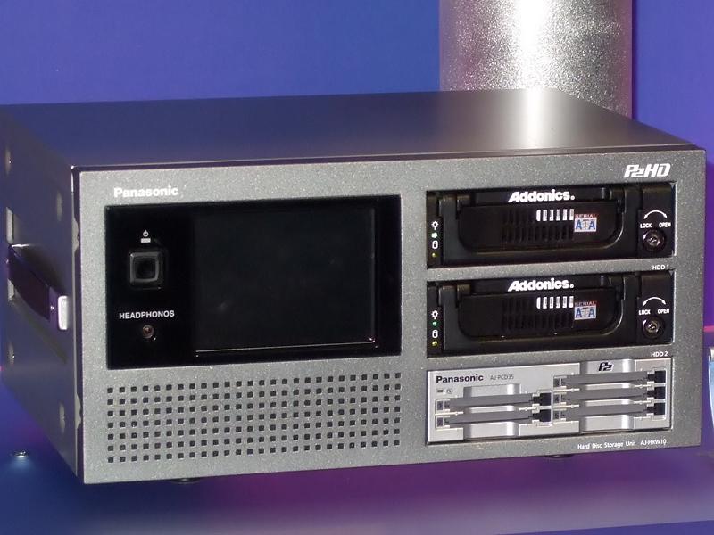 P2カードからHDDへの高速転送機能を持つ「AJ-HRW10G」
