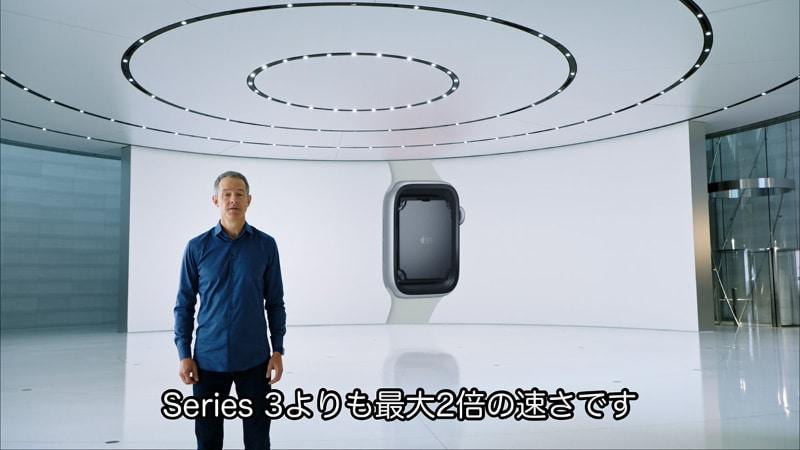 Apple Watch SEの動作速度は、Apple Watch Series 3の倍もある