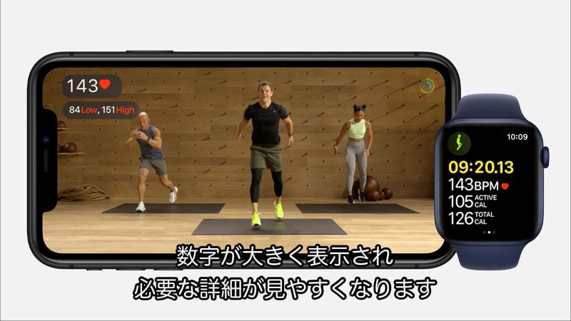 Apple Watchで計測したワークアウトの数字をiPhoneや iPad、Apple TVで見ながらトレーニングができる