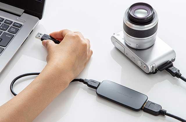 USB-HDMIカメラアダプター「USB-CVHDUVC1」