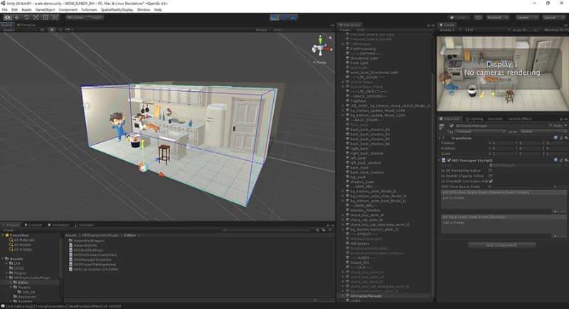 Unityの開発画面