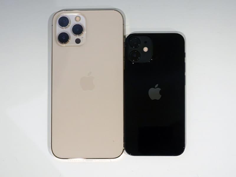 おまけに。miniとPro Maxを比べるとこれだけサイズが違う。だが、性能は基本的に同じだ