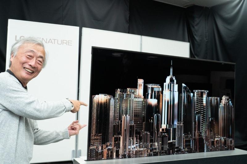 日本に上陸した巻き取り有機ELテレビ「LG SIGNATURE OLED TV R」を見た!