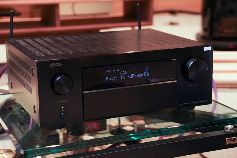 今回試したAVR-X4700H。ゲームではリニアPCMの7.1ch音声をドルビーサラウンドで6.1.4ch化して再生した