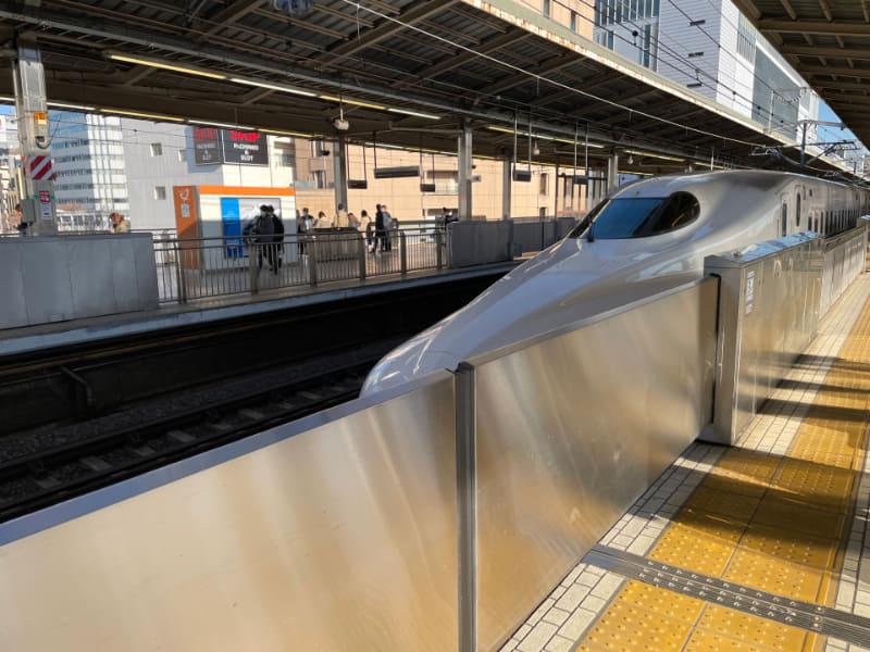 新幹線で新横浜から熱海へ