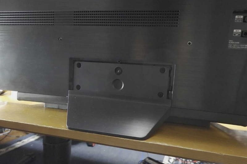 ディスプレイ部背面側のスタンドとの接合部