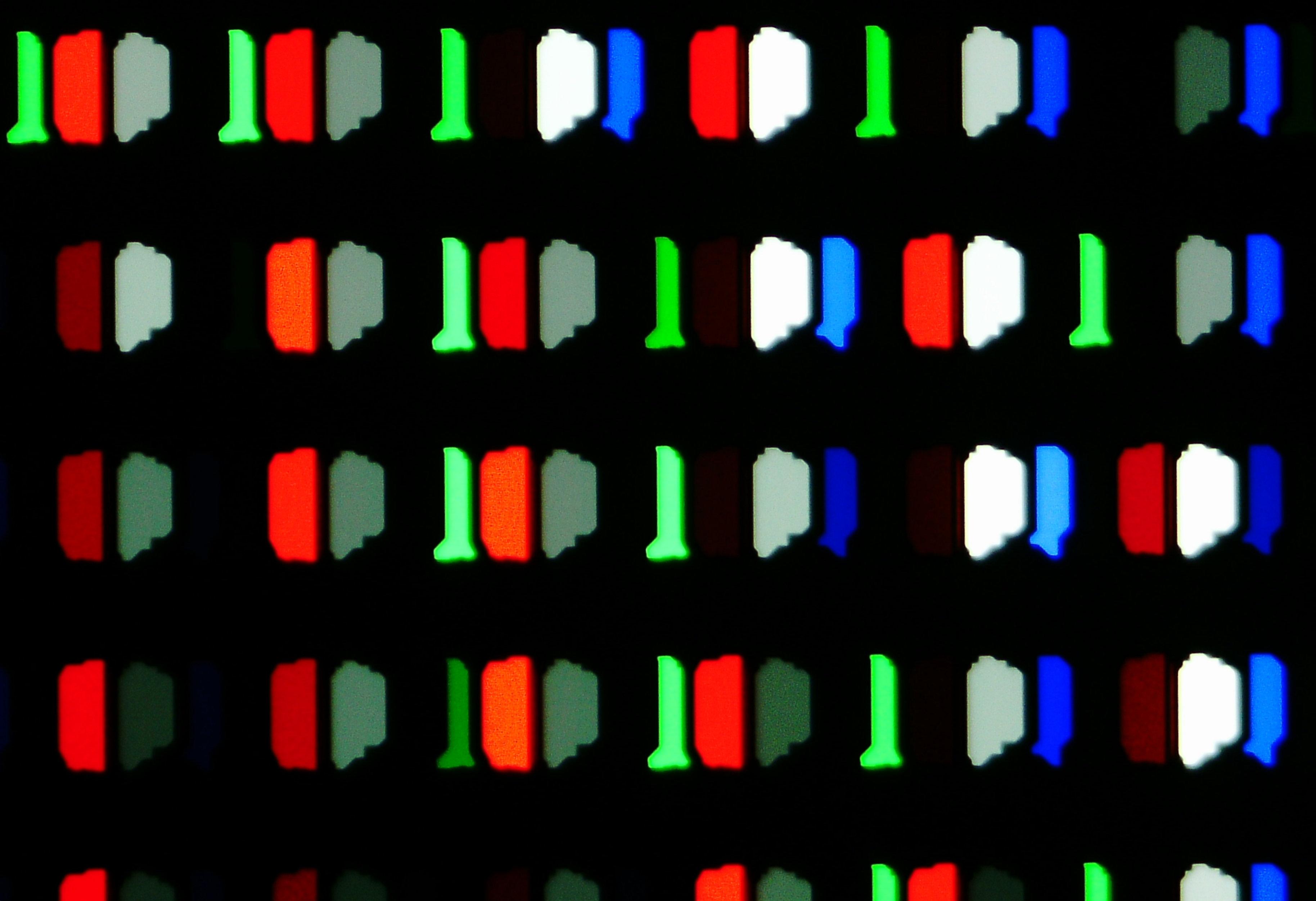 【参考】TH-55HZ2000のサブピクセルの光学300倍拡大顕微鏡写真