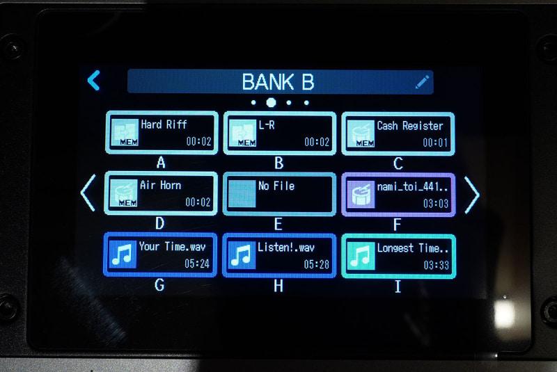 全9色で光るパッドは、音源ごとに設定した色で点灯させることが可能