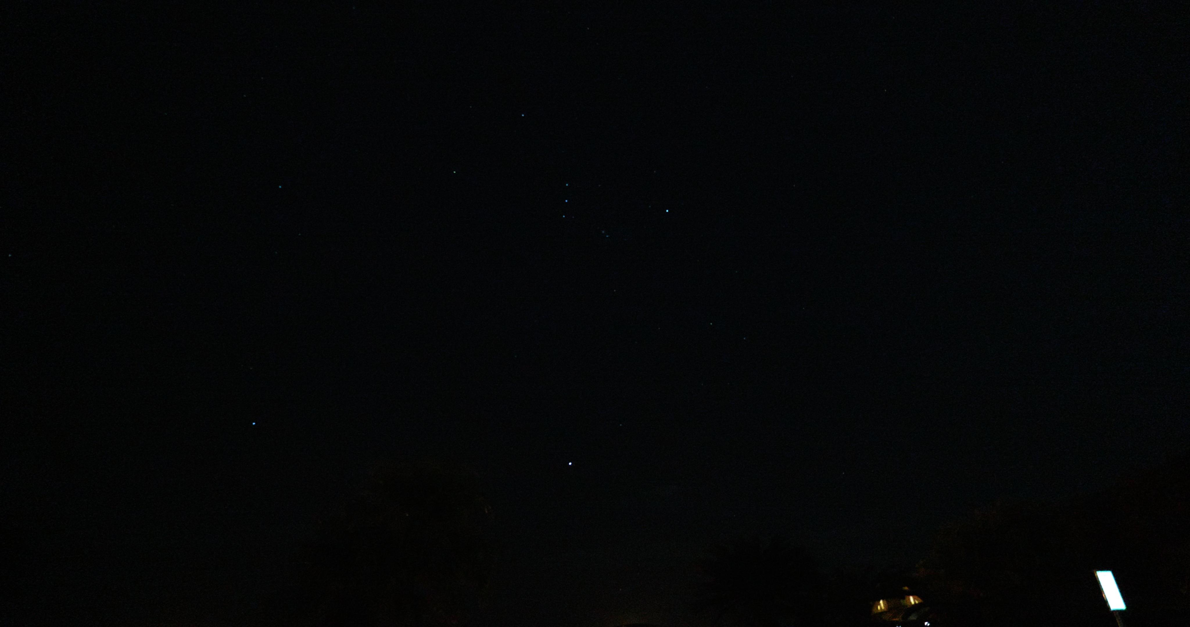 星も普通に映る