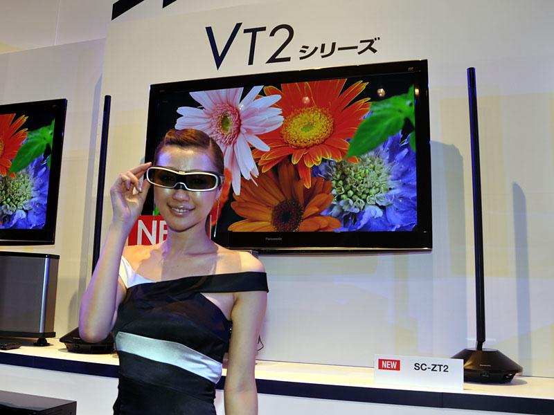2010年2月発売のパナソニック「VIERA VT2」を皮切りに、各社テレビの上位モデルが順次3Dに対応。市場構成で3Dテレビが最も大きくなったのが2012年(17%)だった