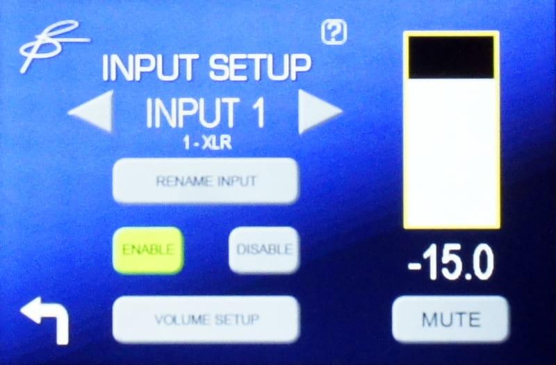 入力設定の画面。入力名の変更、接続していない入力を使用しないようにすることもできる