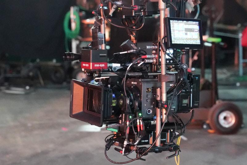 今回のデモでは、ソニーの映画制作用カメラ「VENICE」を使用