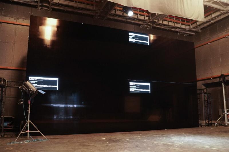 ソニー製Crystal LEDを用いて構築した8K/440型ディスプレイ
