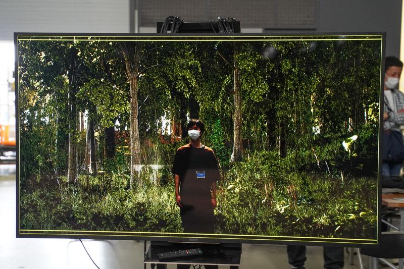 本物の森の中で撮影したような映像が撮れる