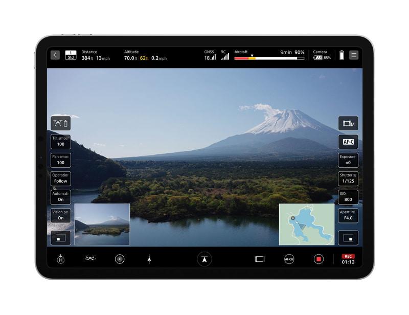 モバイルアプリ「Airpeak Flight」