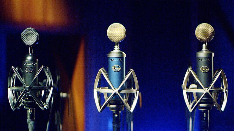 「Blue XLRシリーズ」 左から「Spark SL」「Bluebird SL」「Baby Bottle SL」