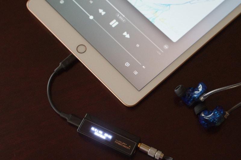 USB-C - LightningケーブルでiPadと接続、Apple Musicでもハイレゾ再生できた