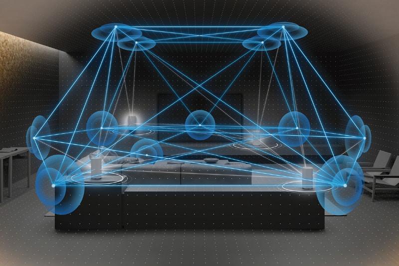 12個のファントムスピーカーを生成、サラウンド空間を作り出せる