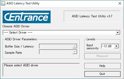 フリーウェアで提供していた「ASIO Latency Test Ulility」