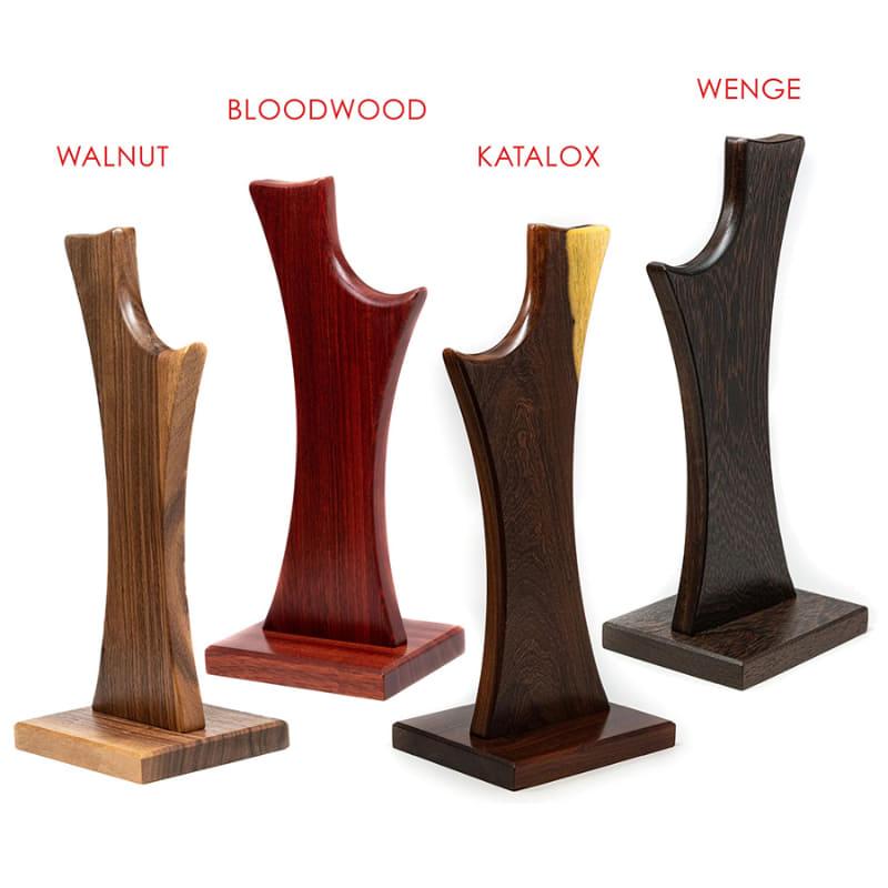 (左から)WALNAT、BLOODWOOD、KATALOX、WENGE