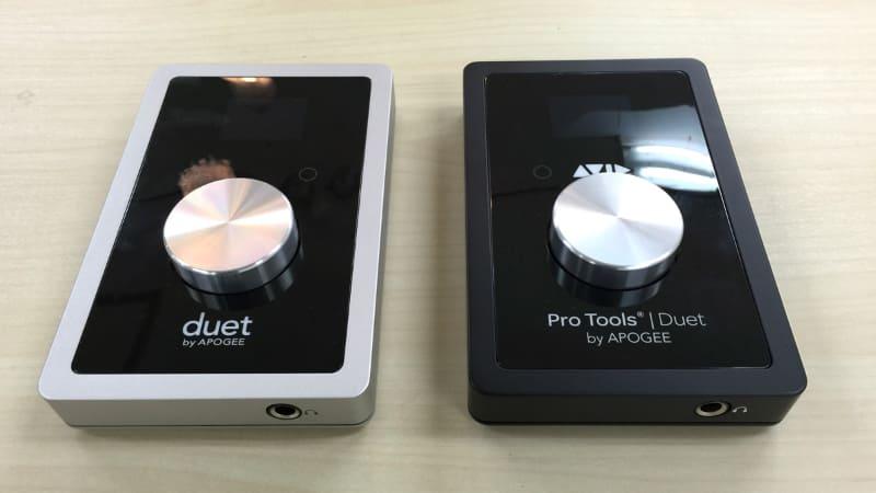 Apogee版のDuet 2(左)とAvid版のDuet 2