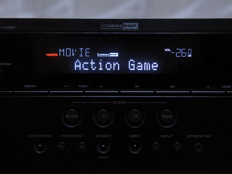 ゲーム用モードやCD再生時に利用するモードなど、様々な音場プログラムが用意されている