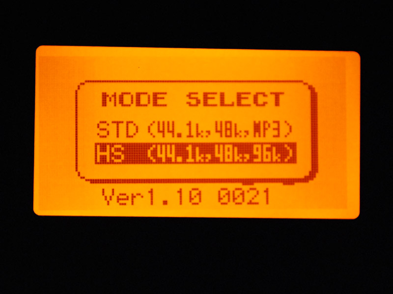 "</small><p align=""center""><small>STD/HSモードの選択画面</small>"