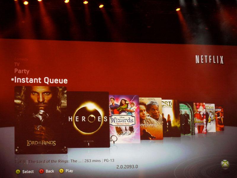Netflixの機能も強化。パソコンを使わず、Xbox LiveのみでQueが入れられるようになり、使い勝手が増した
