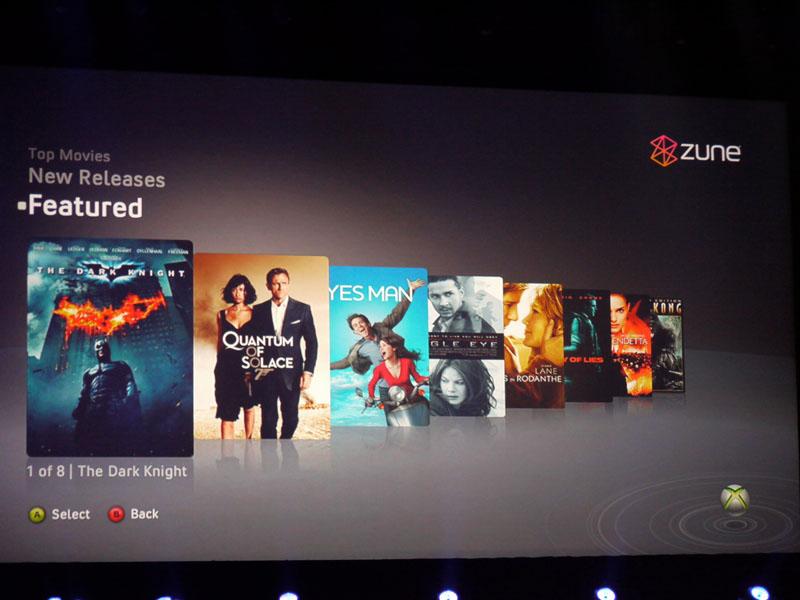 Zuneにあわせ、ビデオストアは完全に刷新。UIこそ以前と大きく変わらないが、サービス内容は大きく変化する。