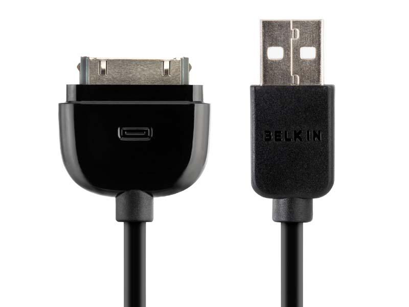 「iPhone/iPod ケーブル+マイクロUSB カーチャージャー」にはDock-USBケーブルを同梱する