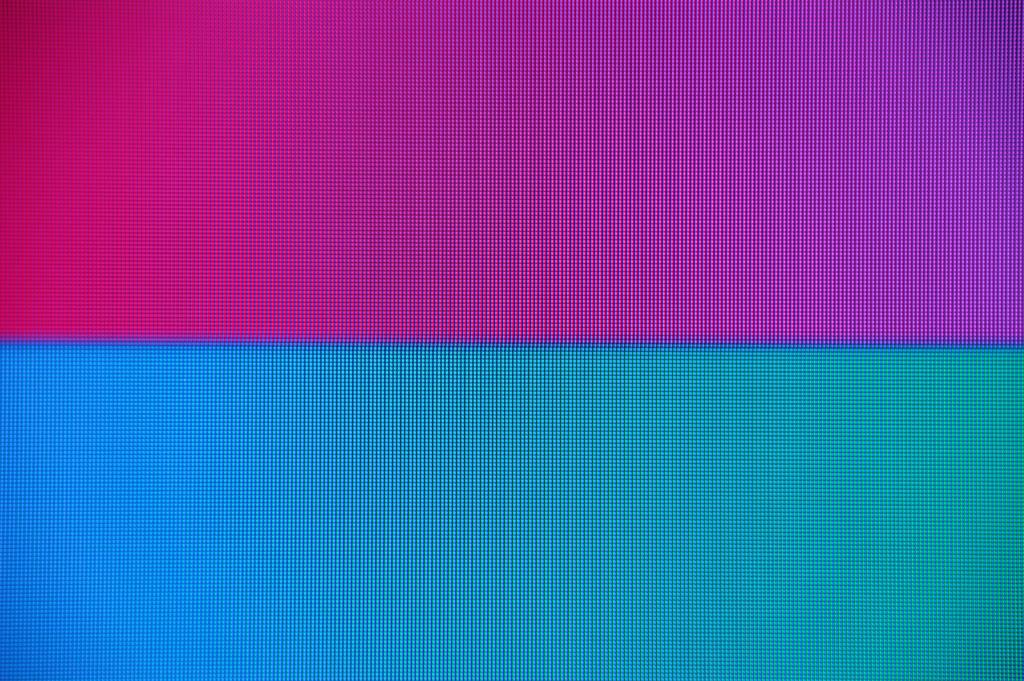 「ワイド」設定。その色滲み線が低減される