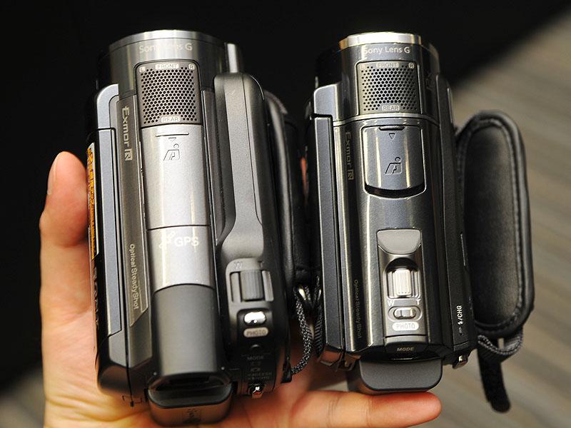 HDR-XR520V(左)とHDR-CX520Vの比較