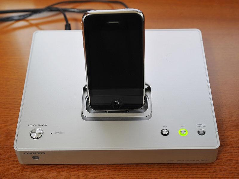 iPhone 3Gを搭載したところ。編集部のテストでは問題なく動作した