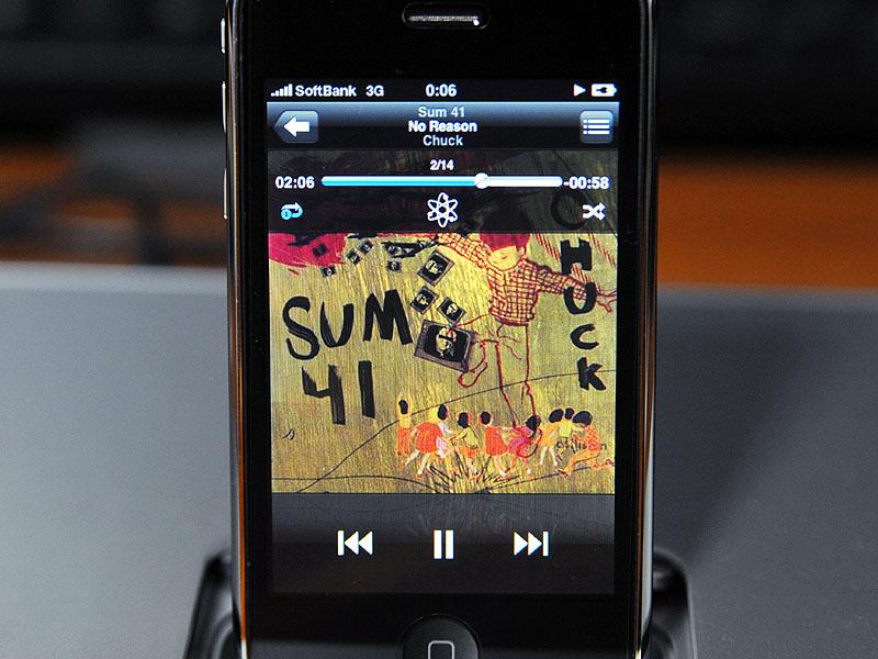 再生中のiPhone 3Gの画面表示