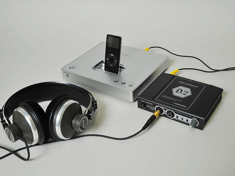 DR.DAC 2と接続した、コンパクトなヘッドフォン再生システム