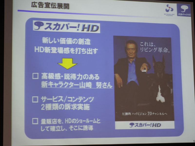 広告キャラクターに山崎努さんを起用する