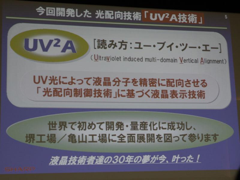 UV<SUP>2</SUP>A技術の概要
