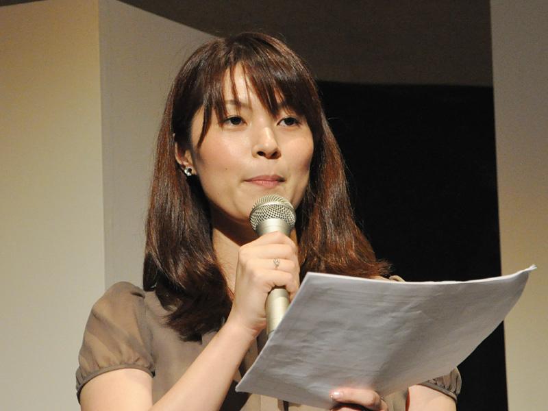 発表会の司会はエフエム東京の古賀涼子アナウンサーが担当した