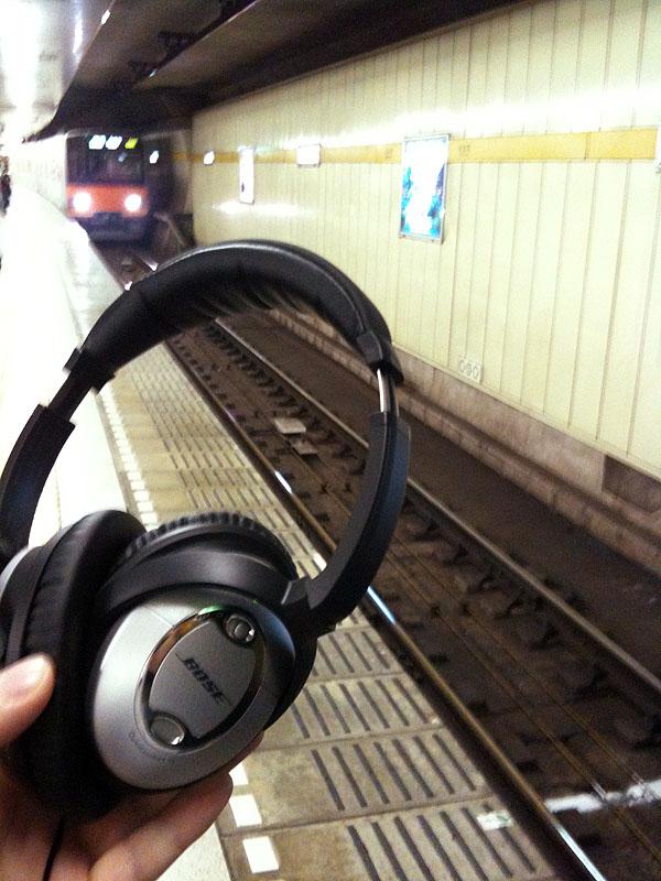 地下鉄でNC機能をテストしてみる